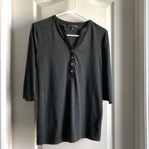 Victoria's Secret charcoal gray Henley shirt